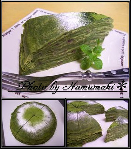 Matcha Green Tea Mille-feuille