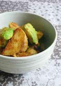 ○New Potato and Avocado Miso Butter Stir-fry○