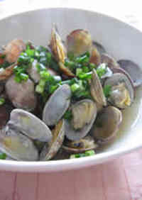 Sake Steamed Manila Clams