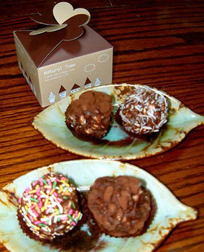 "Puffed Grain ""Ninjin"" Chocolate Truffles"