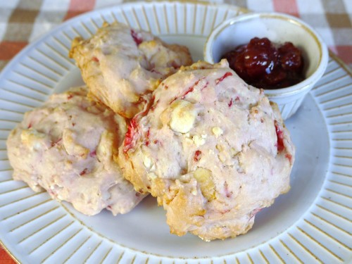 Special Strawberry & White Chocolate Scones