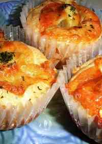 Muffins with Cheese-Wrapped Potatoes Inside
