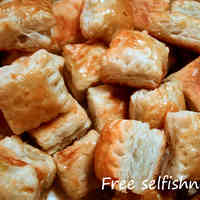 Makeshift Pie Pieces made with Frozen Puff Pastry
