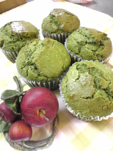 Kuroneko-san's Green Tea and Cream Cheese Muffins