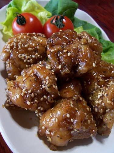 Sweet Soy Sauce Karaage Fried Chicken with