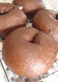 Cocoa & White Chocolate Bagels