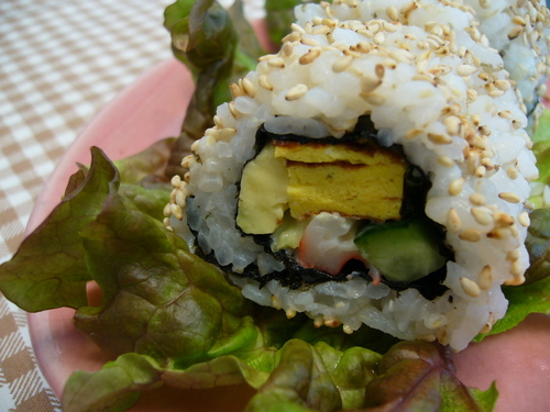 California Roll Made With Aluminum Foil