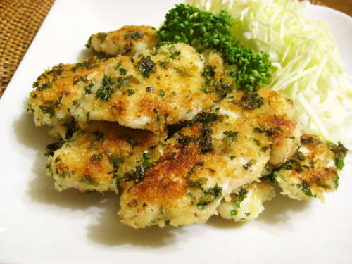 Chicken Breast Fried in Mayonnaise and Panko