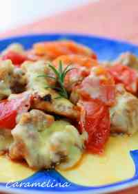 Pan-Fried Cheesy Chicken & Tomato