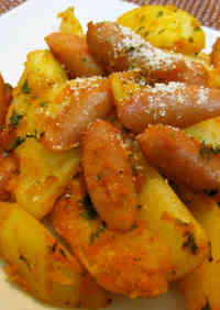Potatoes and Wiener Sausages in Curry & Ketchup