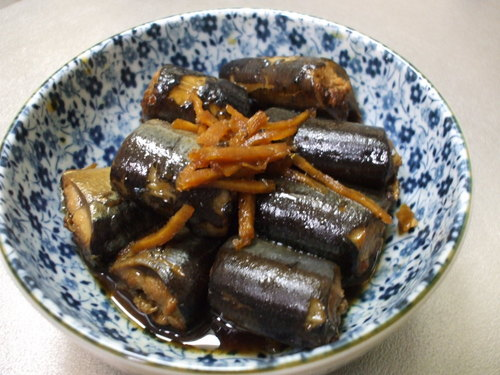 Simmered Pacific Saury with Ginger