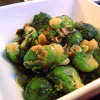 Brussels Sprout Garlic Stir-Fry