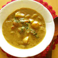 Potato and Wiener Sausage Curry Soup