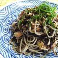 Light and Refreshing Hijiki Seaweed and Tuna Soba Noodle Salad