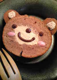 A Simple Cake in a Frying Pan Teddy Bear Cake