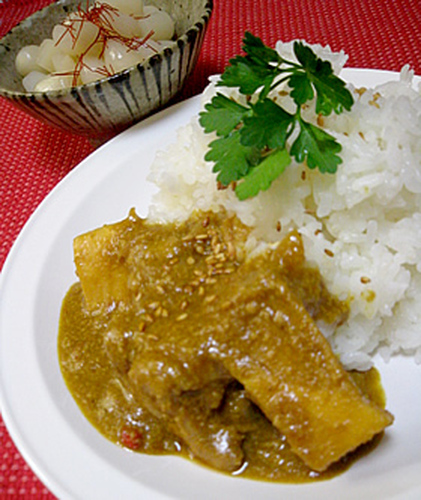 Chicken and Bamboo Japanese-style Sesame Curry