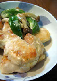 Moist Sautéed Chicken with Wasabi Soy Sauce and Mayonnaise