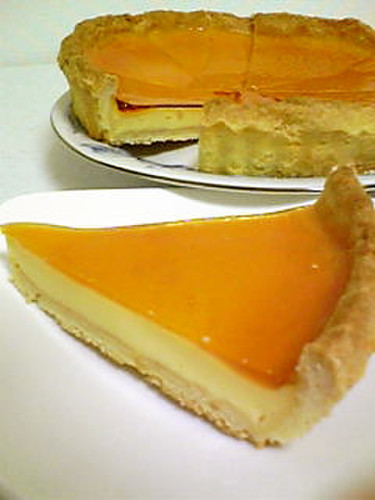 Easy Jiggly Custard Pudding Tart