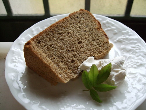 Moist and Airy Black Tea Chiffon Cake