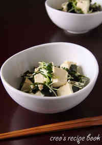 Easy Tofu and Wakame Seaweed Salad
