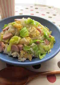 Spring Themed Fried Rice with Spring Cabbage