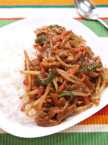 Easy, Colorful Bean Sprout Curry in 15 Minutes