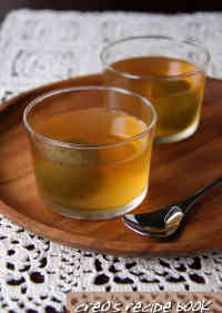 Jello with Umeshu and Lemon