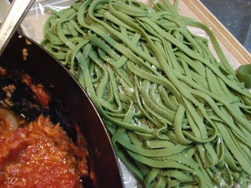 Handmade Pasta: Spinach Fettuccine