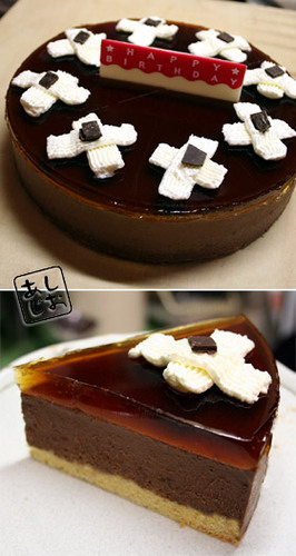 Chocolate Mousse and Jello Cake