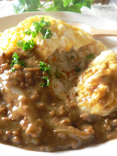 Very Yummy!! Curry Omurice