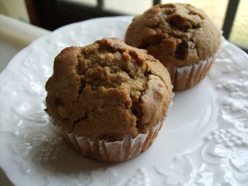 Brown Cane Sugar and Walnut Muffins