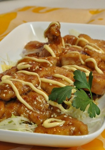Chicken Breast Simmered in Sweet-Sour Sauce