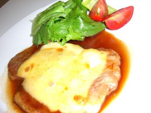 Cheesy Pork Sauté with Pork Loin