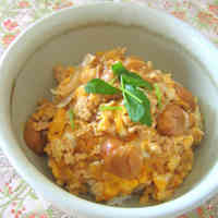 Oyako-don with 'Fu' Wheat Gluten
