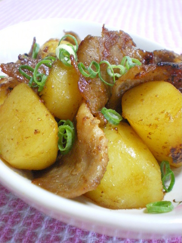 Umami-Rich Potato and Pork Stir-Fry