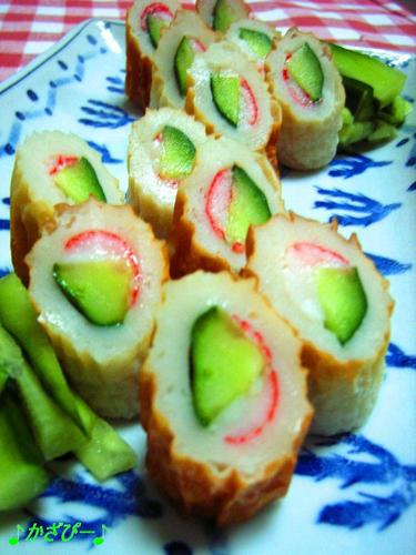 Crab and Cucumber in Chikuwa Rolls (Toshi's Mom's Recipe)