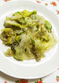 Simple and Nutritious! Lettuce and Baby Sardine Stir-fry