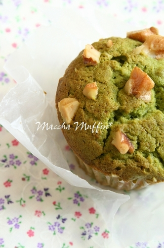 I Want to Keep This a Secret! Matcha and White Chocolate Muffins