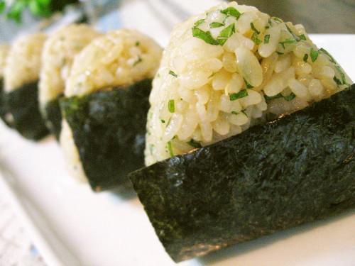 Wasabi and Shiso Rice Balls