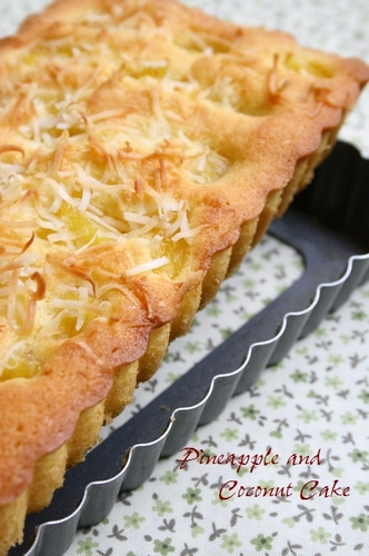 Tropical Cake with Pineapple & Coconut