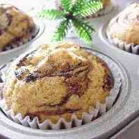 Marbled Banana Muffins