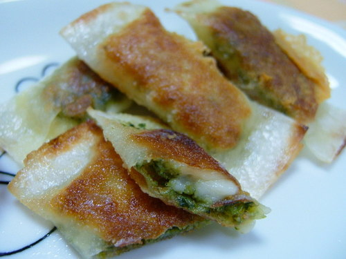 Genovese Sauce and Cheese Spring Rolls