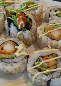 California Roll With Fried Shrimp