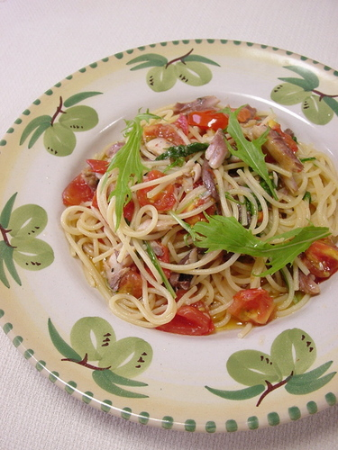 Dried Horse Mackerel & Tomato Pasta