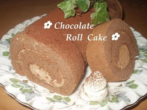 Fluffy Chocolate Roll Cake