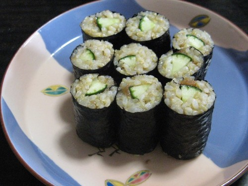 "Macrobiotic: ""Fake"" Cucumber Sushi Rolls"