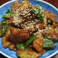 Crispy! Chicken Skin Stir-Fried in Spicy Miso