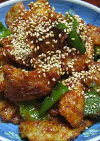 Crispy! Chicken Skin Stir-Fried in Spicy Miso