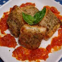 Pan Fried Pork-Wrapped Hanpen Fish Cakes with Basil
