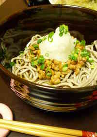 Natto & Grated Daikon Radish Soba